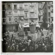 Vista de una falla de Valencia. ca 1900. ES.462508.ADPV/Colección Gamón, Caj. 00154 - Núm. 06841