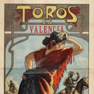 PERTEGÀS FERRER, Enric Bous a València: ... correguda de novells-bous… el diumenge 23 de febrer de 1913...   ADPV. Cartells taurins. 21/94