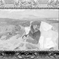 ANTONIO GARCÍA. María enferma en El Pardo, pintura de Joaquín Sorolla Bastida. 1906. ES.462508.ADPV/Colección Boldún, imagen nº 07423