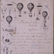 Carta de Luis Bordas a Manuel Calvo el 30 abril 1859 sobre disponibilitat de la Plaça de Bous de València . 1859. ES.462508.ADPV / Cartells de circ / IX . 1 caixa 18 , lligall 72