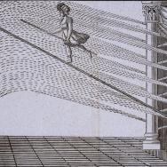 Ejercicio sobre la cuerda de Mme. Saqui. 1846. ES.462508.ADPV/Carteles de circo/ IX.1 caja 11, legajo 56