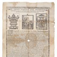 Gran jubileu de l'Hospital General de la ciutat de València. Entre 1556 i 1559. ES.462508.ADPV/Efímers/caixa 2, nº 9