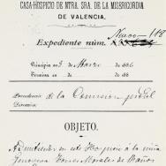 Expedient d'admissió en l'Hospici de la xiqueta Genoveva Torres Morales de 14 anys d'edat. 1886. ES.462508.ADPV/Misericòrdia/a.2.3.2 caixa 2