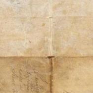 Reverso del pergamino que contiene el privilegio real del gremio de velluters.