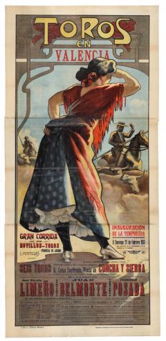 PERTEGÁS FERRER, Enrique. Toros en Valencia: ... corrida de novillos-toros… el domingo 23 de febrero de 1913...   ADPV. Carteles taurinos. 21/94