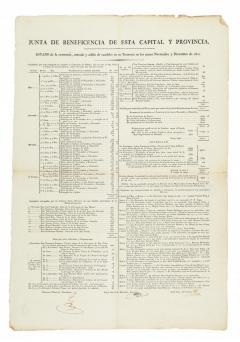 JUNTA DE BENEFICENCIA. Estat de l'existència, entrada i sortida de cabals en la seua tresoreria en els mesos de novembre i desembre de 1821. 1822. ES.462508.ADPV / Biblioteca. Fullets / W0002, nº 20.