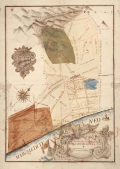 AUTOR DESCONEGUT. Mapa del Marquesat de Nules. Segle XVIII. ES.462508.ADPV / Mapes i plànols / Carpeta 10, nº 54.