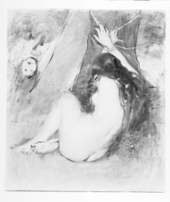 """Estudio para las """"Hijas del Cid"""", por Ignacio Pinazo Camarlench. Valencia. Fotografía: Colección Enrique Cardona, ca.1930. Signatura 0853."""