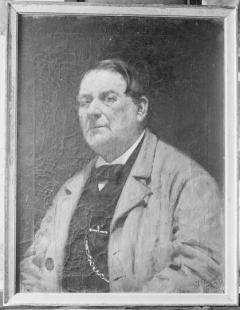 """Retrato de D. José Martínez de Carpesa """"El Carpesano"""", por Ignacio Pinazo Camarlench, 1871. Casa Museo de Pinazo de Godella. Fotografía: Colección Enrique Cardona, ca. 1925. Signatura 0675."""