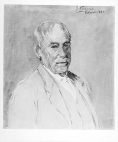 Retrato del Jardinero Mayor Don Simón Peris Giner por Ignacio Pinazo Camarlench, 1884. Museo de Bellas Arte de Valencia. Fotografía: Colección Enrique Cardona, ca. 1930. Signatura 0775.
