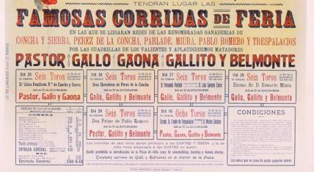 Cartell taurí de la Fira de Juliol del 1916. ADPV. Cartells taurins 3/65, imatge núm. 3692