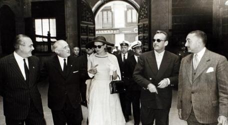 Els prínceps de Mònaco en la seua visita a València en 1956